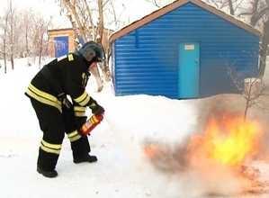 Огнетушитель поможет сберечь ваше имущество