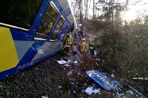 В Германии столкнулись два пассажирских поезда