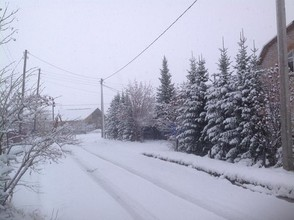 Хакасия попала под снежный удар