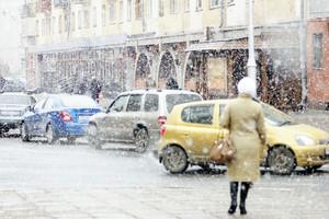 В Кузбассе выпал снег с градом