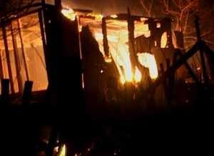 Снова сгорел дачный домик