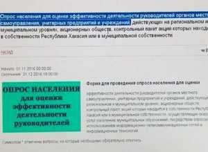 Саяногорцы могут оценить эффективность работы городских властей