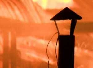 В Саяногорске сгорел частный дом