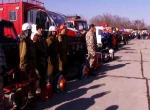 Саяногорск закрыт надежным щитом от степного огня