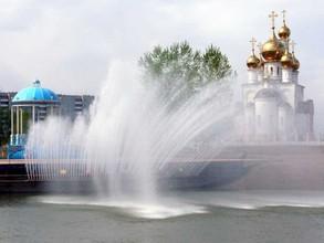 В Абакане заработали городские фонтаны
