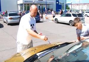 Саяногорцы вновь разукрасили свои автомобили