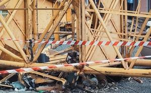В поселке Майна упал строительный кран, один человек пострадал