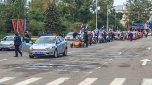 Впервые в Хакасии День российского флага отметили масштабным автомотомаршем