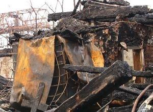 В Саяногорске сгорело здание бывшей милиции