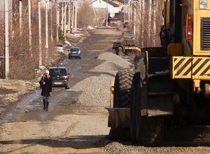 В поселке КСРЗ Саяногорска начались дорожные работы