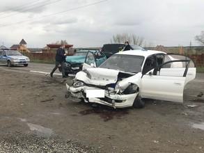 Двойное ДТП в Саяногорске: водителю стало плохо за рулём