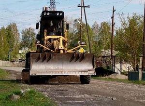 В Саяногорске приводят в порядок грунтовые дороги