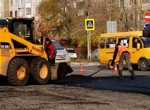 Дорожные работы в Саяногорске продолжаются