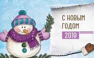 Поздравляем с наступающим новым 2019 годом!