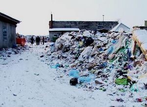 Мусор с полигона по переработке отходов рядом с КСРЗ вывозят
