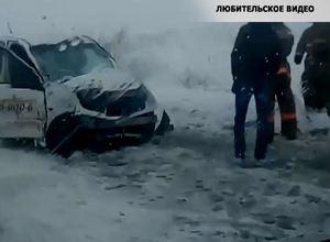Обильный снегопад в Саяногорске стал причиной ряда ДТП