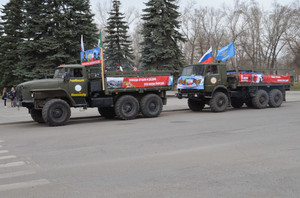 В Хакасии традиционно стартует автопробег Победы