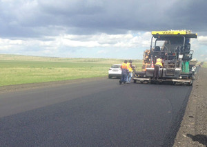 В Хакасии ремонтируют дорогу Абакан – Саяногорск