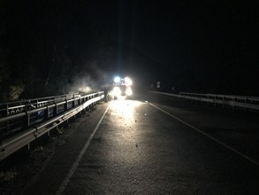 В Хакасии водитель заживо сгорел в опрокинувшемся автомобиле