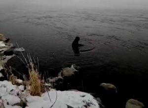 Госавтоинспекторы Саяногорска вытащили из Енисея пожилую женщину