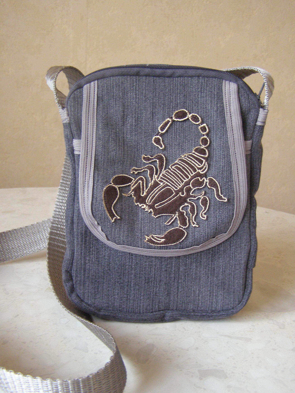 маленькая сумка на длинном ремешке