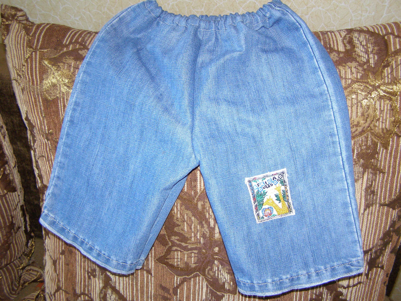 Бриджи для девочки из старых джинсов своими руками